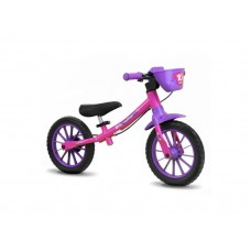 Bicicleta Balance Bike Nathor - aro 12 - Rosa