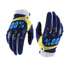 Luva 100% Airmatic - Navy/Yellow