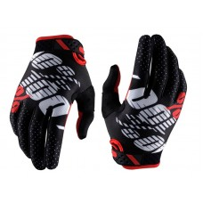 Luva 100% Ridefit - Black / Red